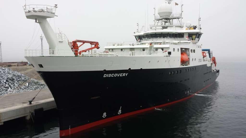 Pintado de buque oceanográfico Discovery