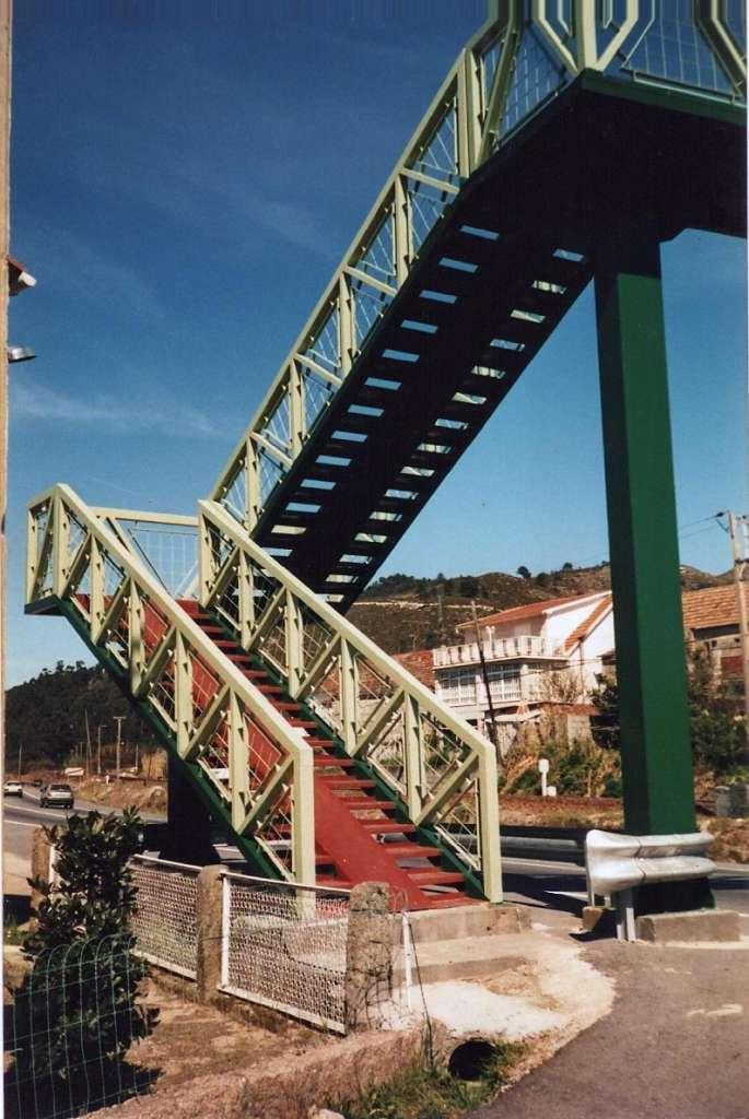 Pintado de escalera peatonal