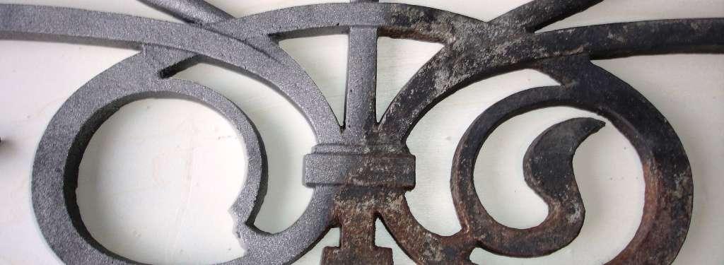 Ejemplo de metal semi  -chorreado