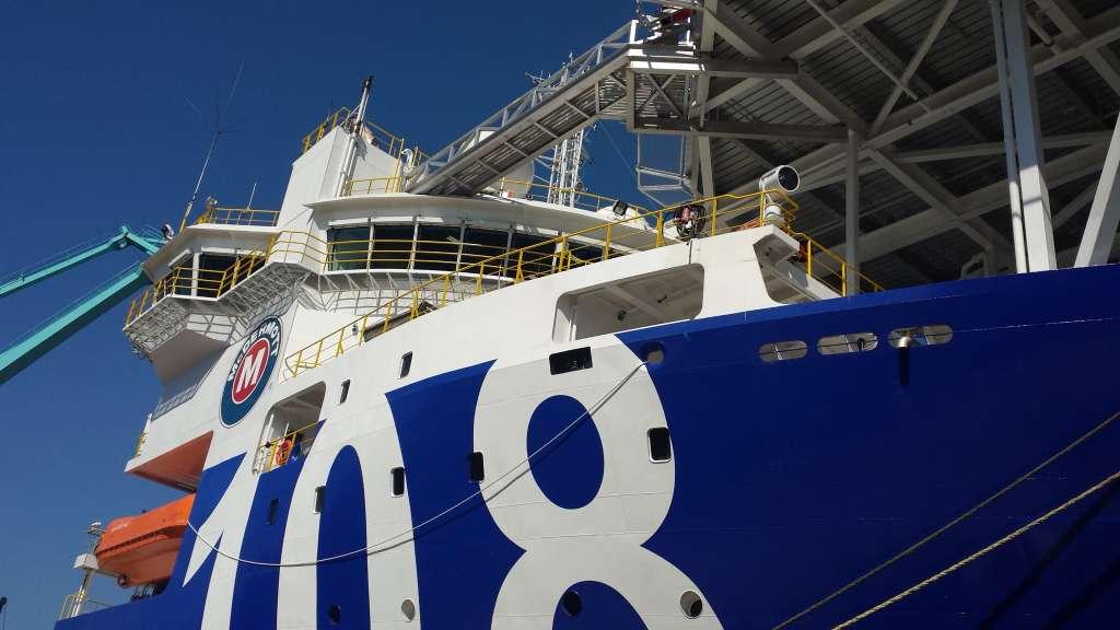 Pintado parcial del buque «Lay Vessel 108»